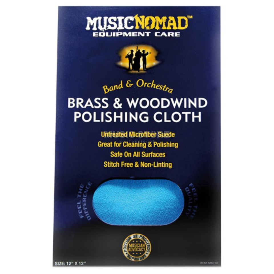 Music Nomad MN730 microfasertuch Brass & Wood Productafbeelding