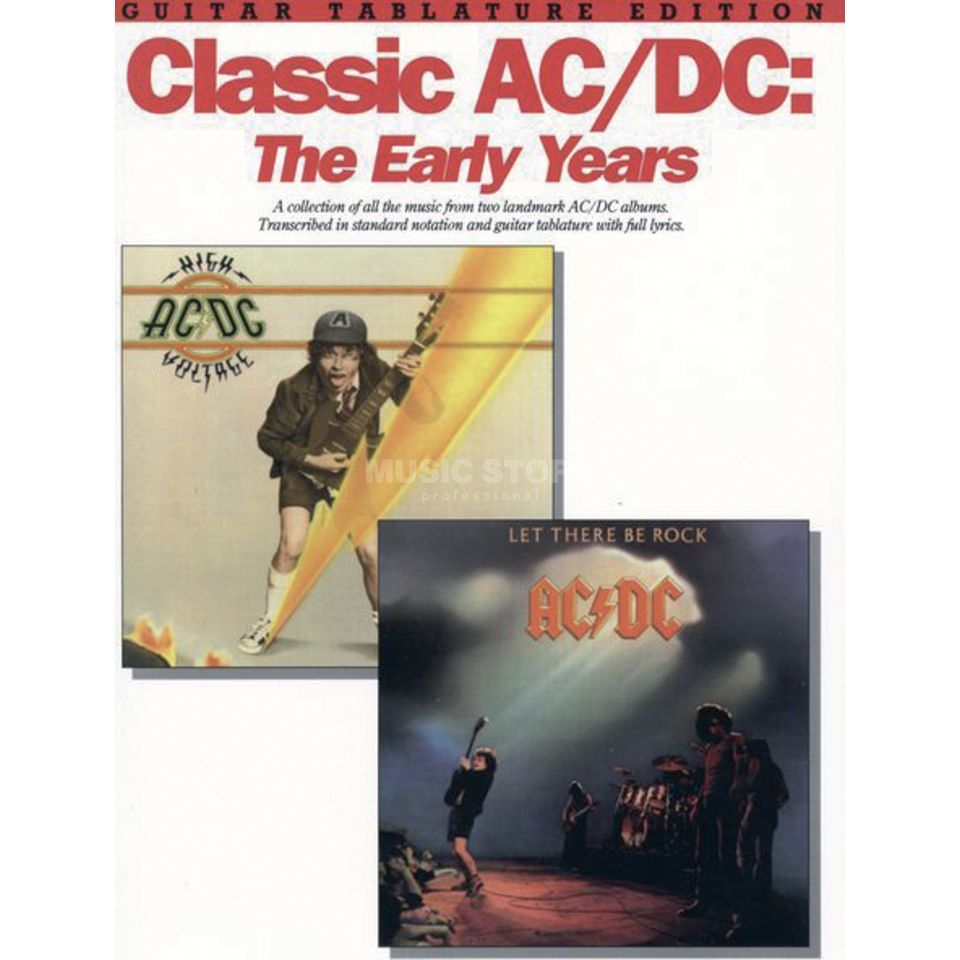 Music Sales AC/DC - The Early Years TAB Produktbild