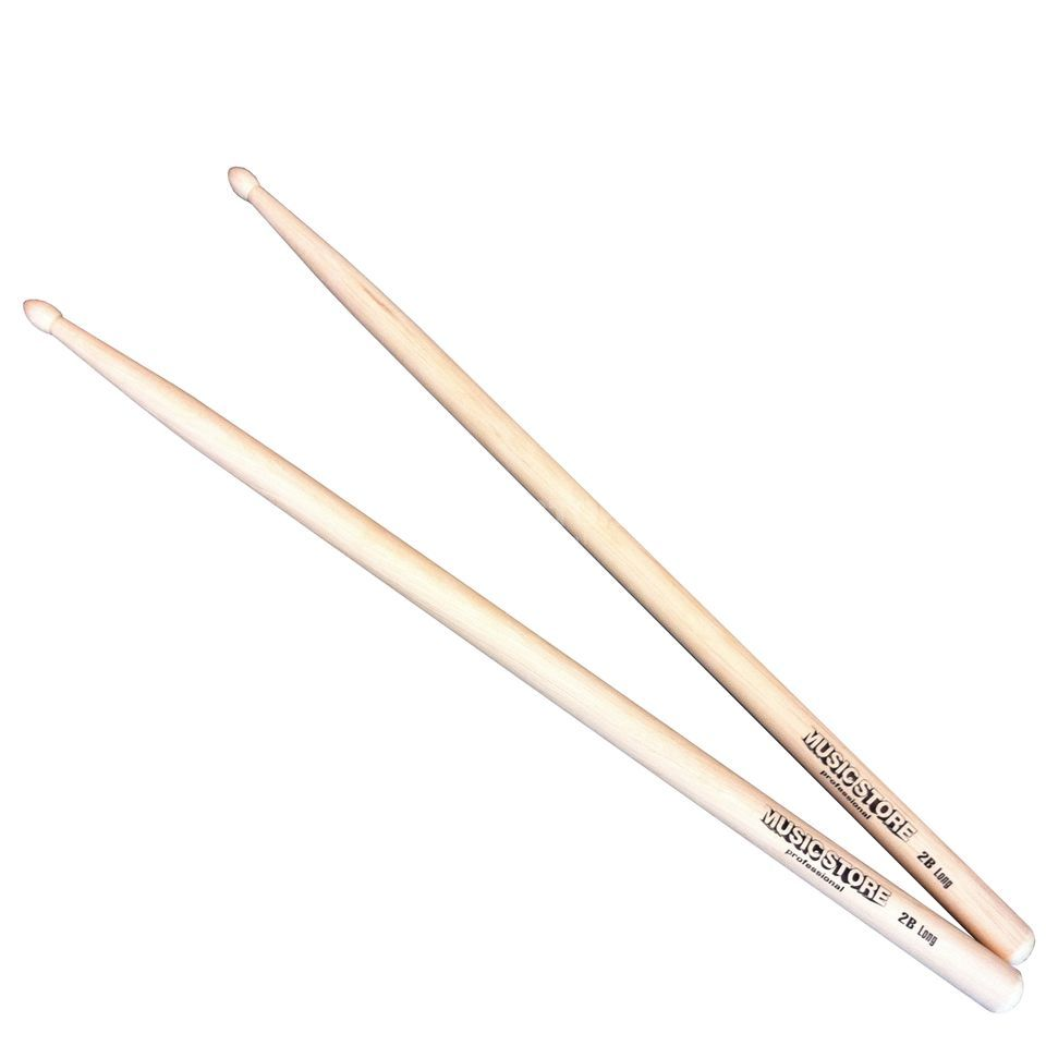 MUSIC STORE 2B Long Sticks Hornbeam, Wood Tip Produktbild