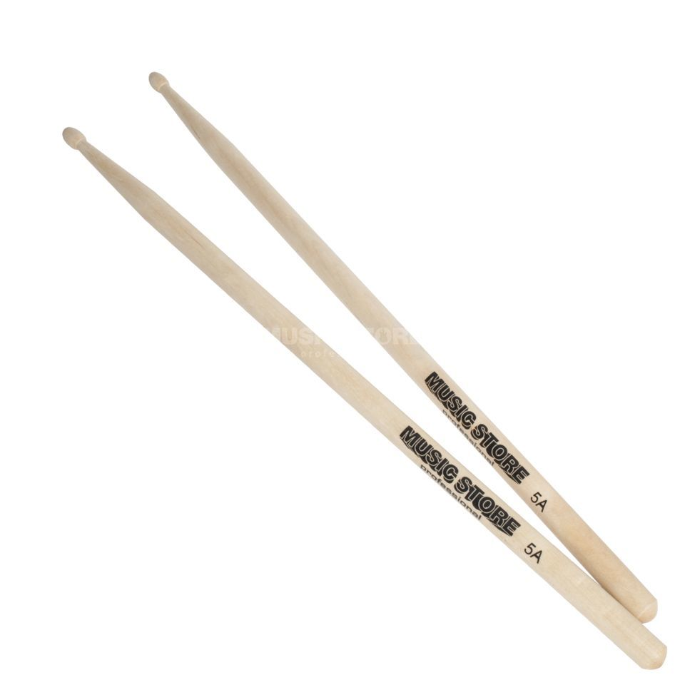 MUSIC STORE 5A Maple Sticks, Wood Tip Produktbillede