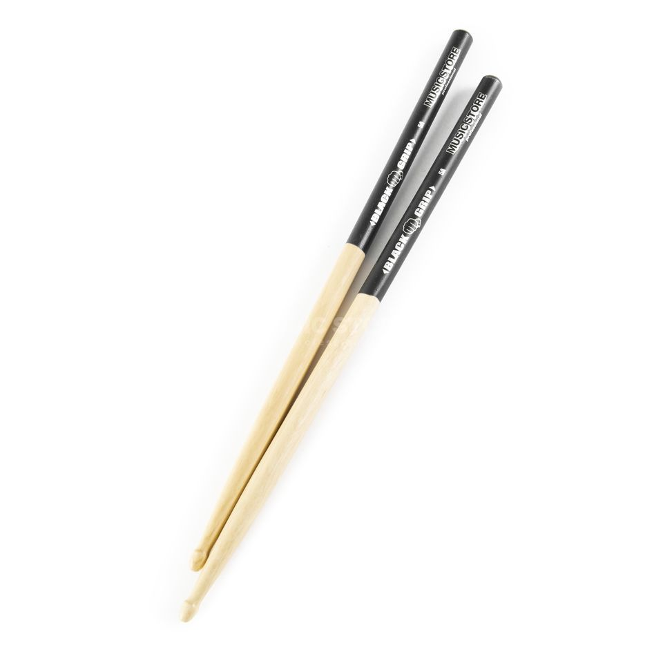"MUSIC STORE 5A Sticks ""Black Grip"", Hornbeam, Wood Tip Produktbillede"