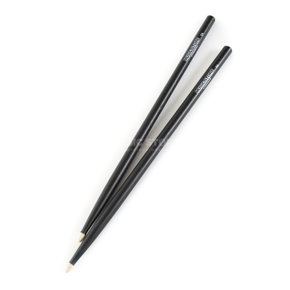 MUSIC STORE 5A Sticks, Black, Hornbeam, Wood Tip Produktbild