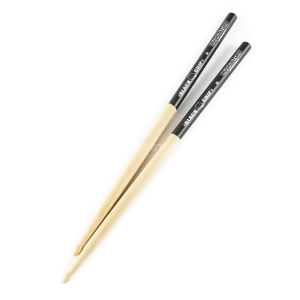 "MUSIC STORE 5B Sticks ""Black Grip"", Hornbeam, Wood Tip Produktbillede"
