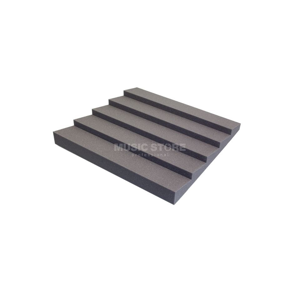 MUSIC STORE Absorber-Pack SAW, anthracite 4x - AcousticFoam, 600x600x70 Produktbillede