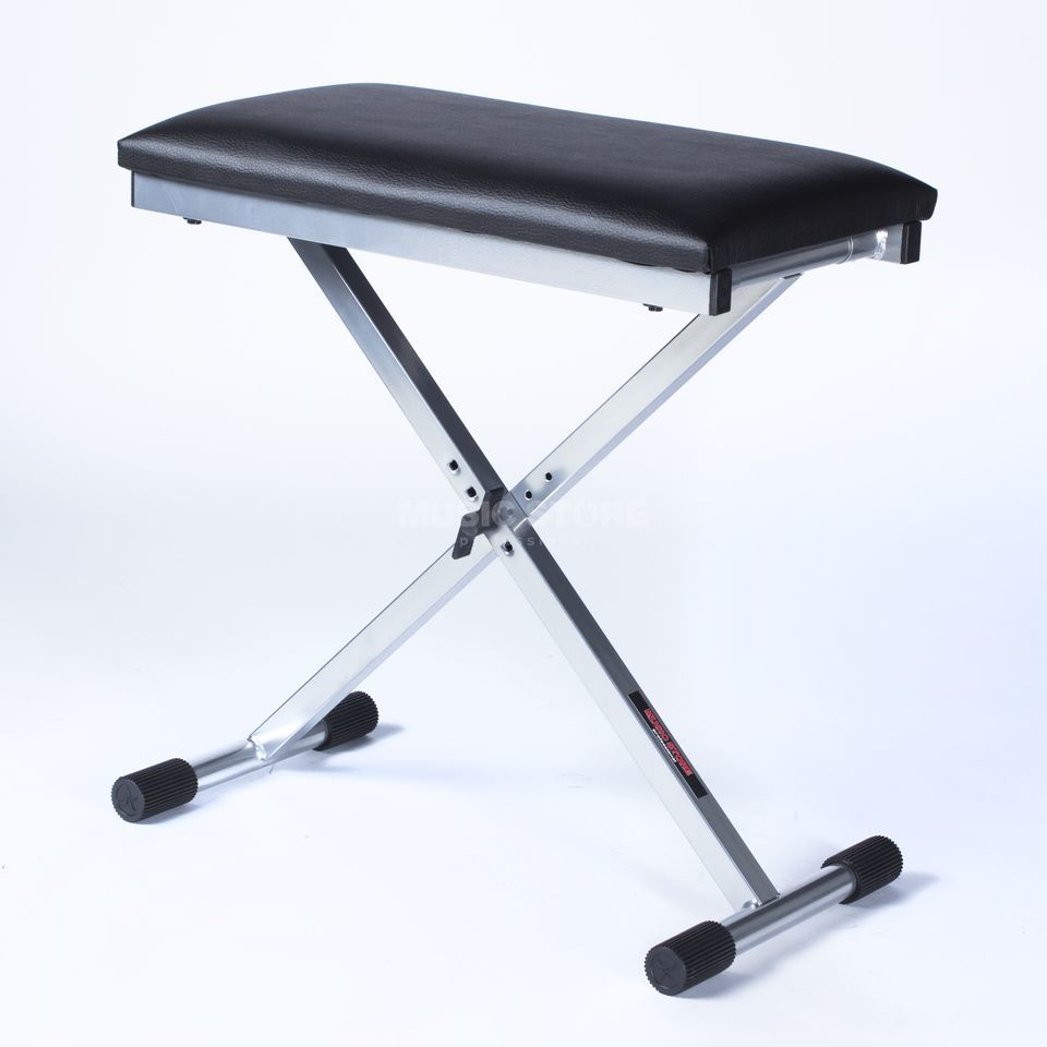 "MUSIC STORE BN1 ""X"" Bench silver Adjustable height: 44-58 cm Produktbillede"