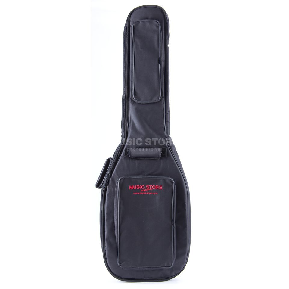 "MUSIC STORE ""Deluxe"" Gigbag E-bas zwart/rood Logo Productafbeelding"
