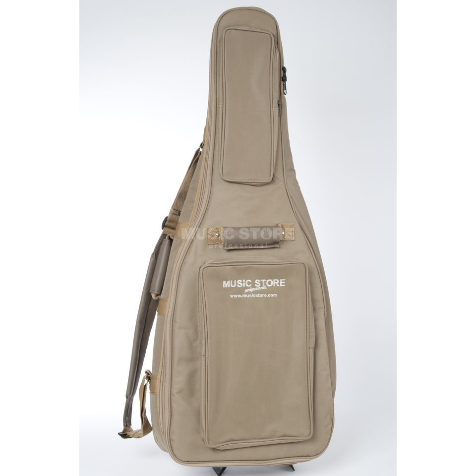 "MUSIC STORE Gigbag ""Super Deluxe"", Brown for Concert Guitars Produktbillede"