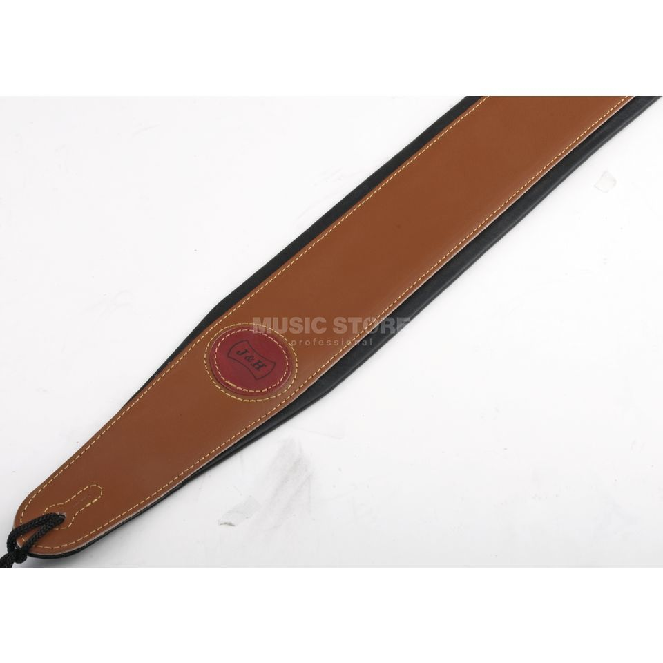 MUSIC STORE Guitar Strap 851 B Brown Leather, 8 cm Produktbillede