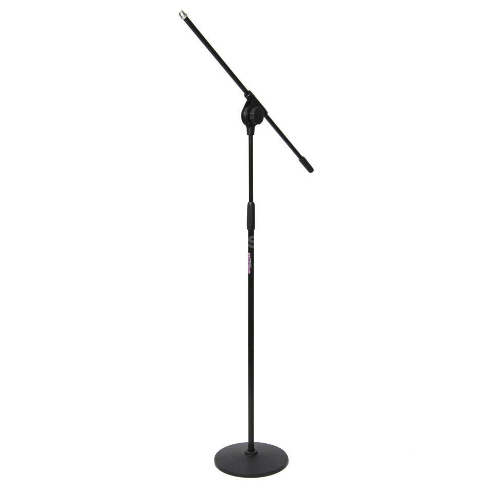 MUSIC STORE MIC-6E, Black Round Base Microphone Stand, Black Product Image