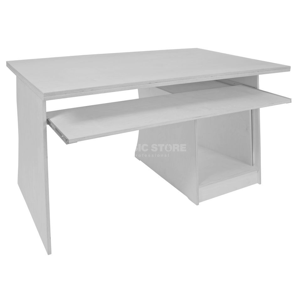 MUSIC STORE MINIstation Production Table white lacquer 1.5x0.9m, 10HE-UB Produktbillede