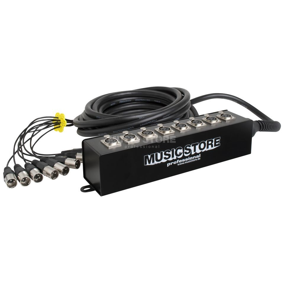 MUSIC STORE Multicore 8xXLR, 10m, Stagebox  Produktbild