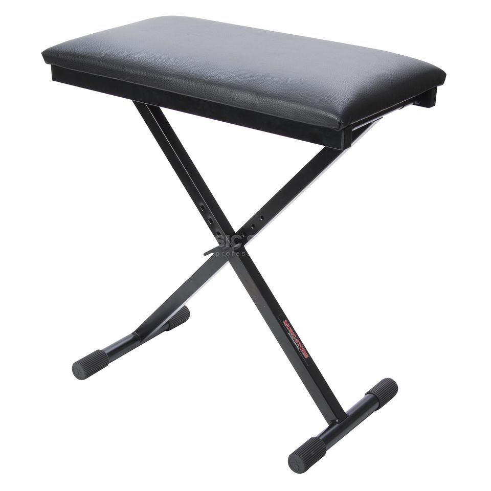 "MUSIC STORE Music Store BN1 ""X"" bench Adjustable height: 44-58 cm Produktbillede"