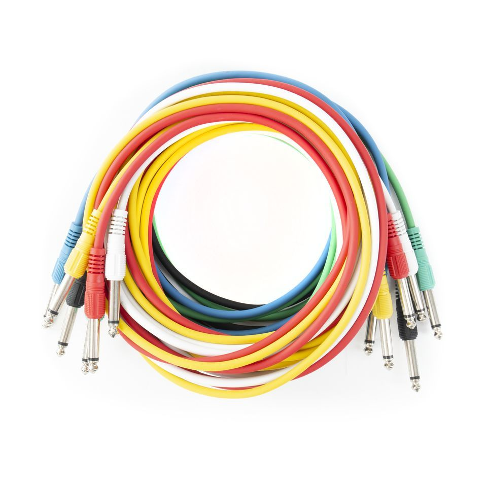 MUSIC STORE Patch Cable 3m Mono Pack Of 6 Produktbillede