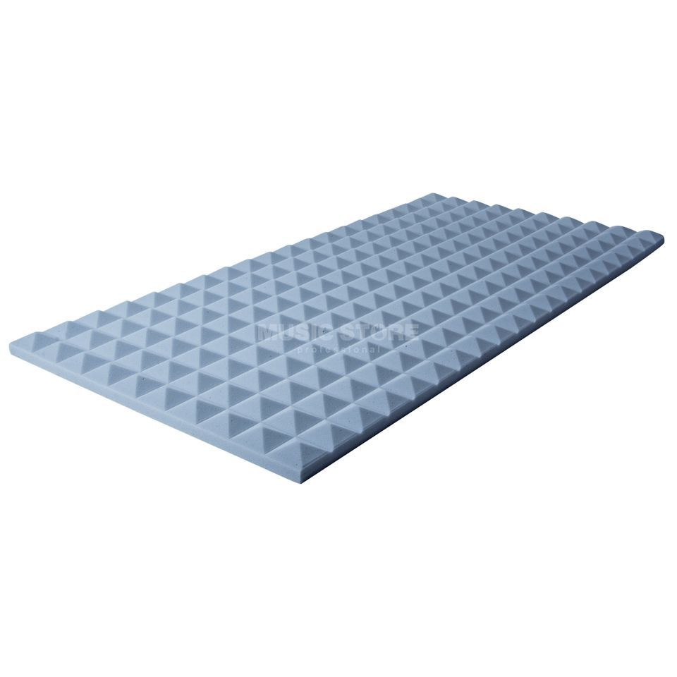 MUSIC STORE Pyramis Absorber 50x100x 3 cm Basotect, grey Produktbillede