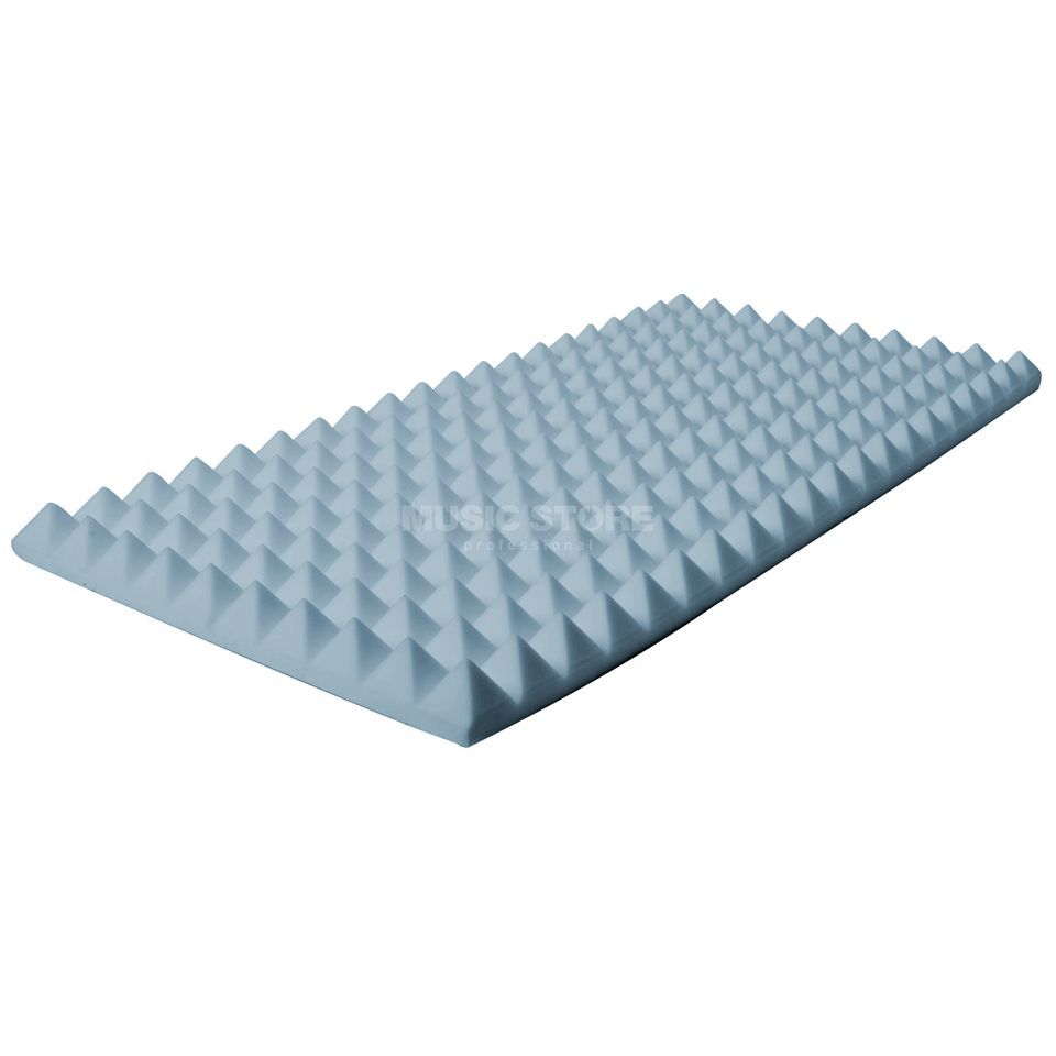 MUSIC STORE Pyramis Absorber 50x100x - 7 cm Basotect, grey Produktbillede