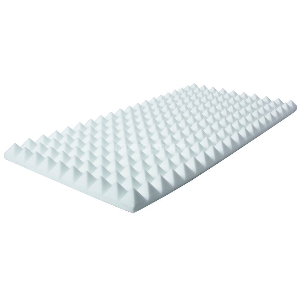 MUSIC STORE Pyramis Absorber 50x100x 7 cm Basotect, wei, selbstklebend Produktbillede