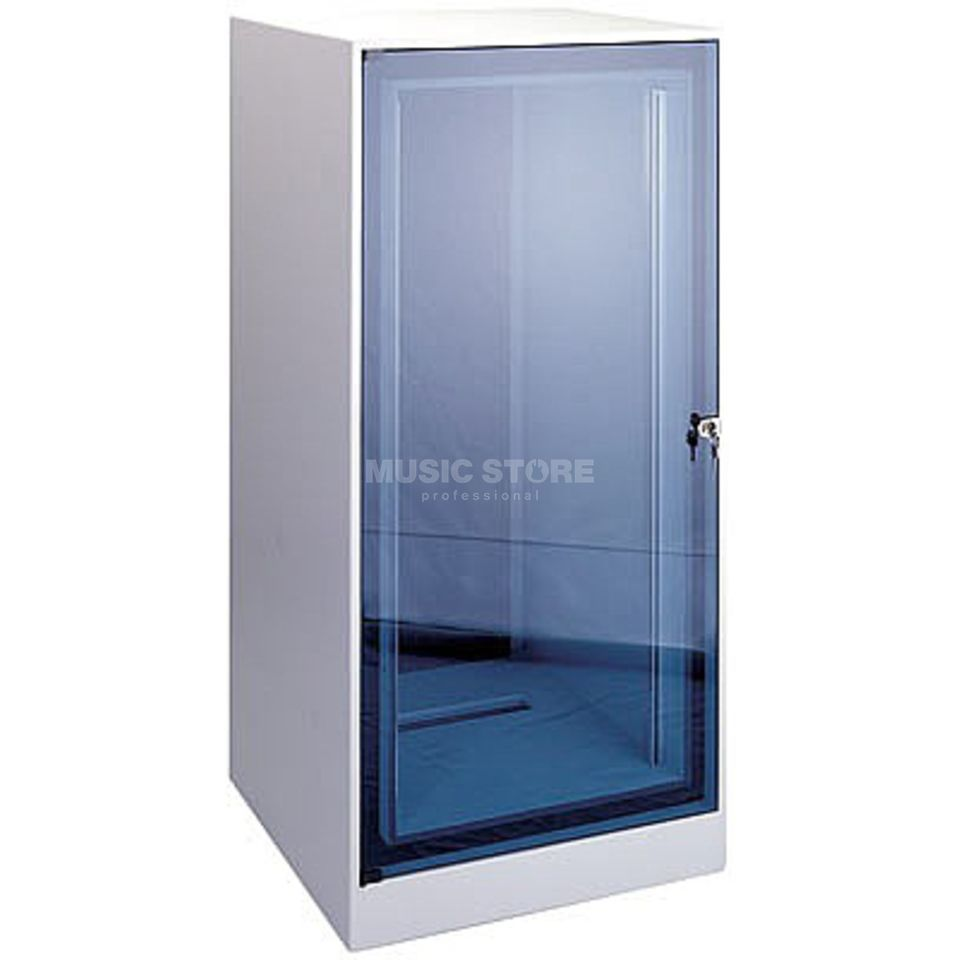 MUSIC STORE Silent Rack 18 HE with Glass Door Produktbillede