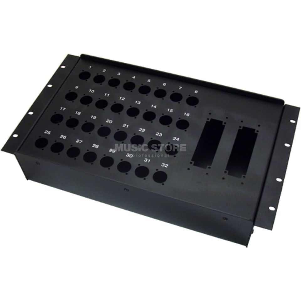 "MUSIC STORE Stagebox - 19"" 32 / 32-Holes for Rack Install, D-Series   Produktbillede"