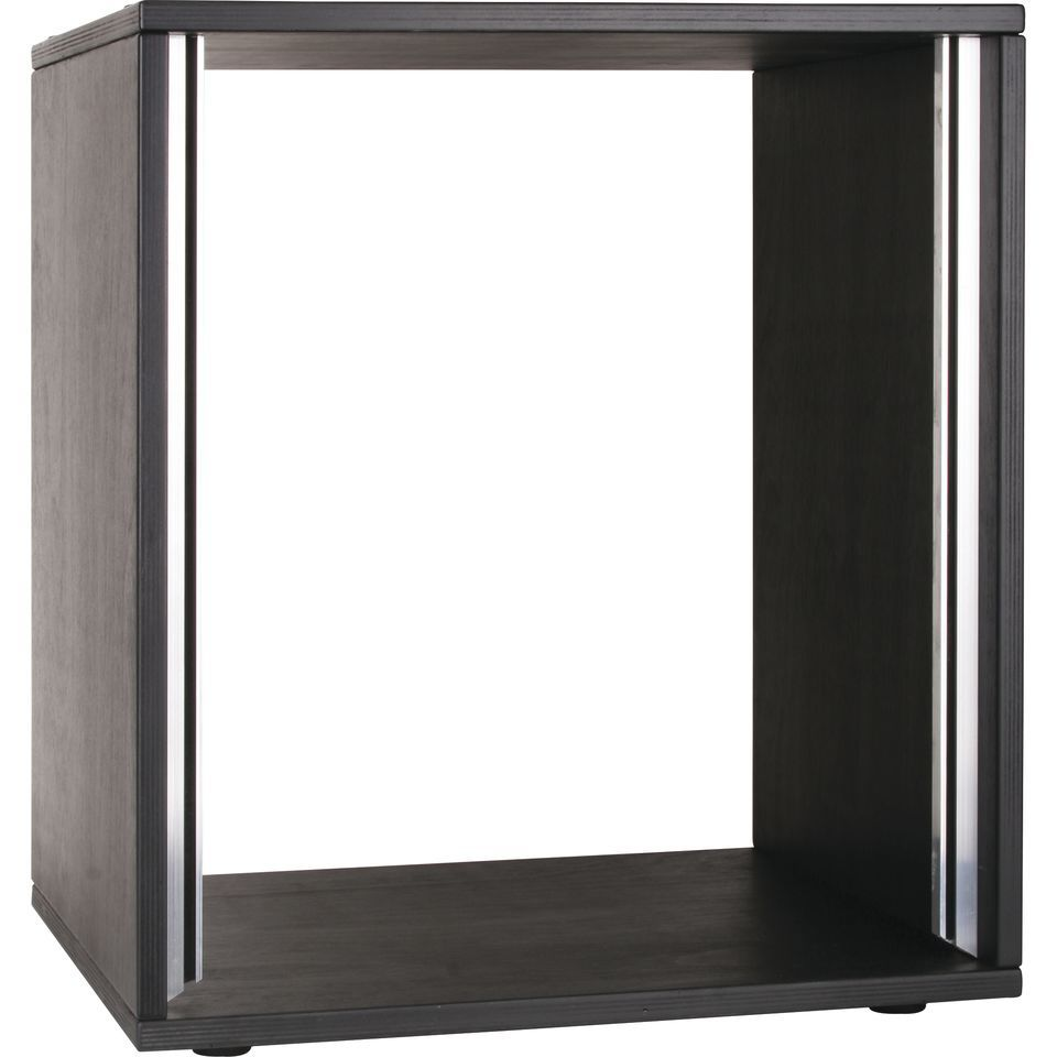 MUSIC STORE Studiorack 12HE Birch MP black polished straihght 18mm Produktbillede