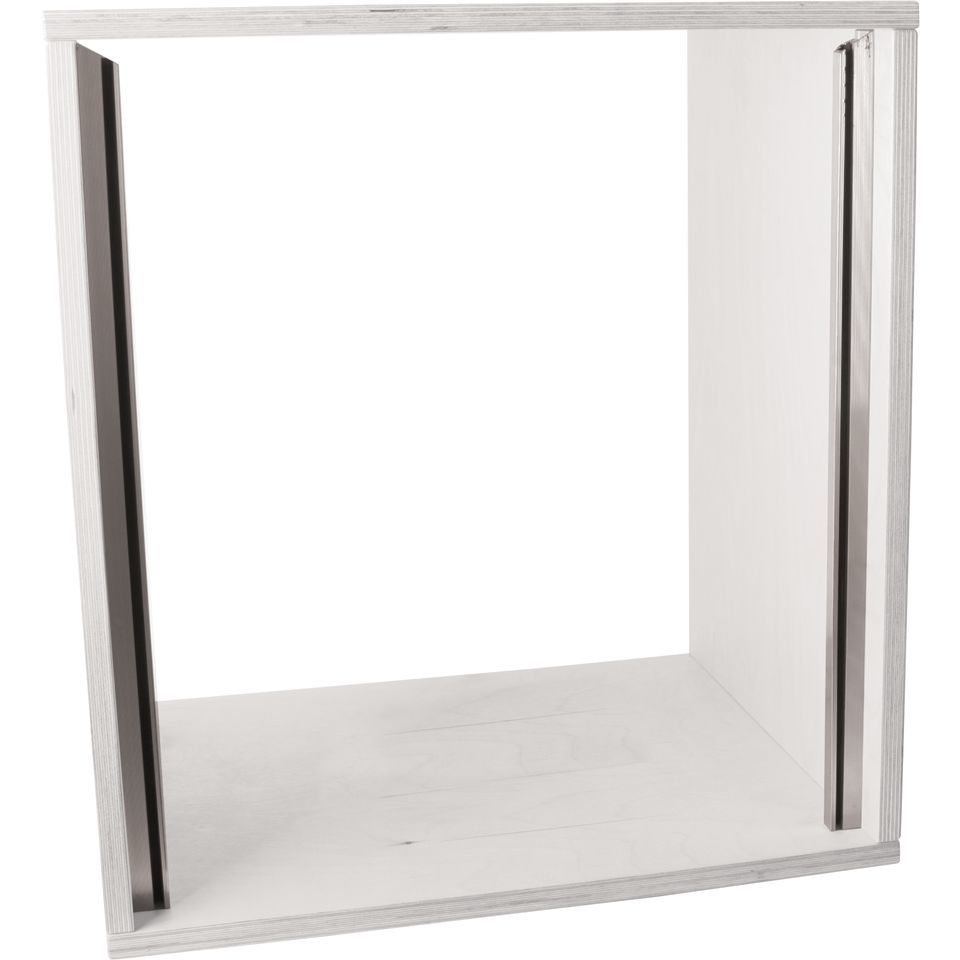 MUSIC STORE Studiorack 12HE Birch MP Kit white straight Produktbillede