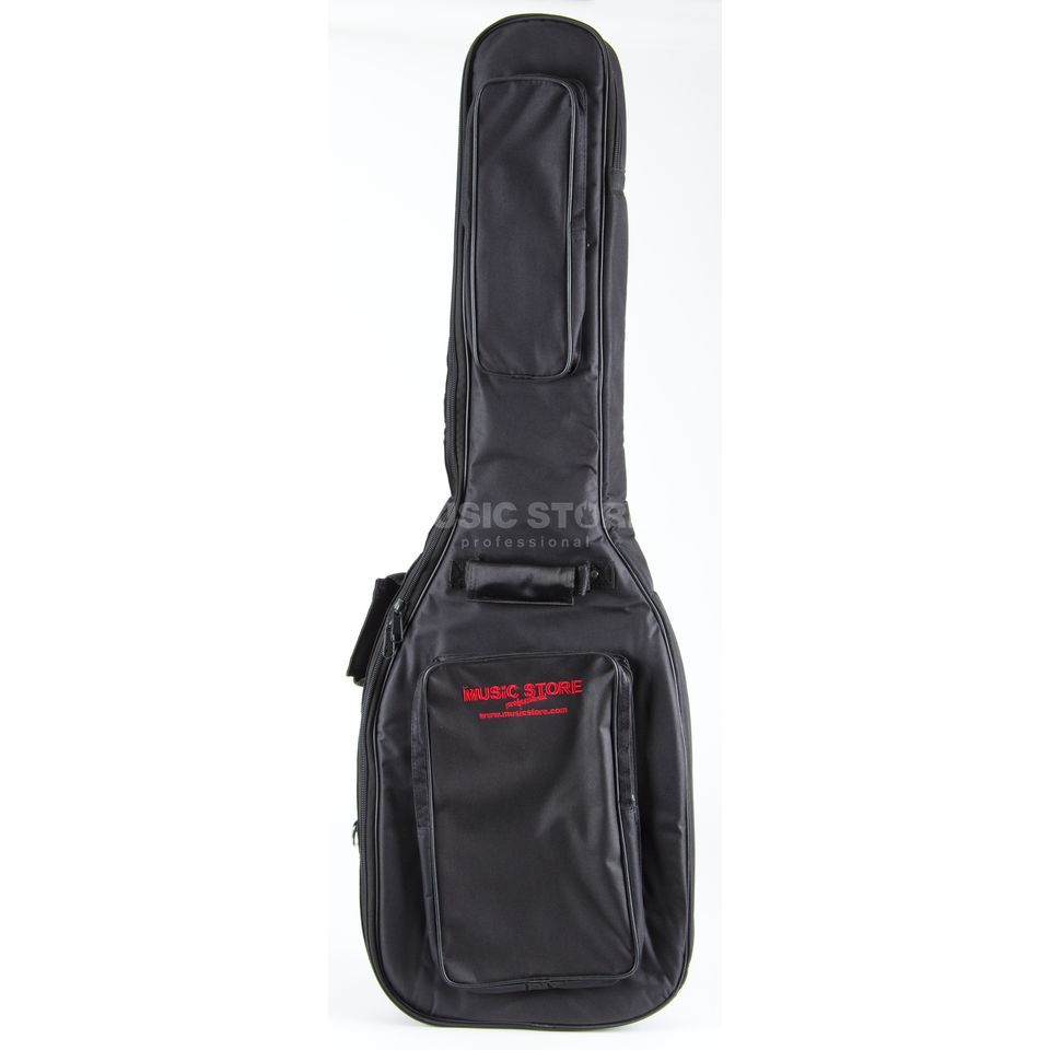 "MUSIC STORE ""Super Deluxe"" Gigbag Electric Bass Black/Red Logo Produktbillede"