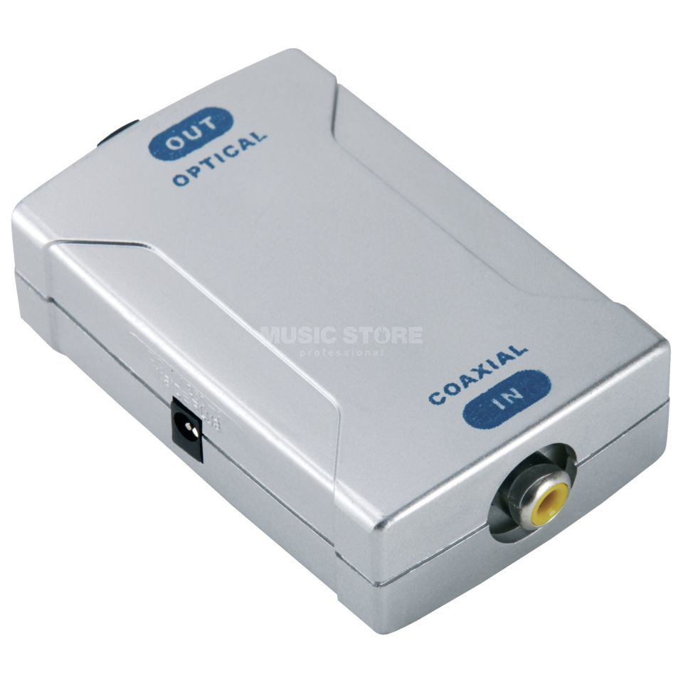 MUSIC STORE TOS 901 Coax/Opto-Converter eletkr. to opt. incl.  Power Adapter Produktbillede