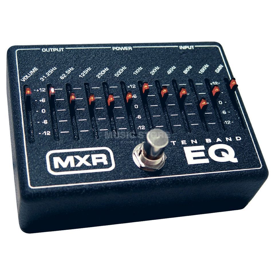 MXR M108 10 Band Graphic EQ Guitar  Effects Pedal   Produktbillede