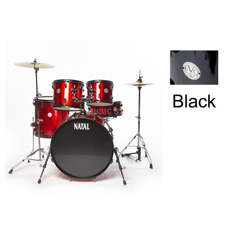 EVO Drumset Studio, incl  HW, Black, Overstock