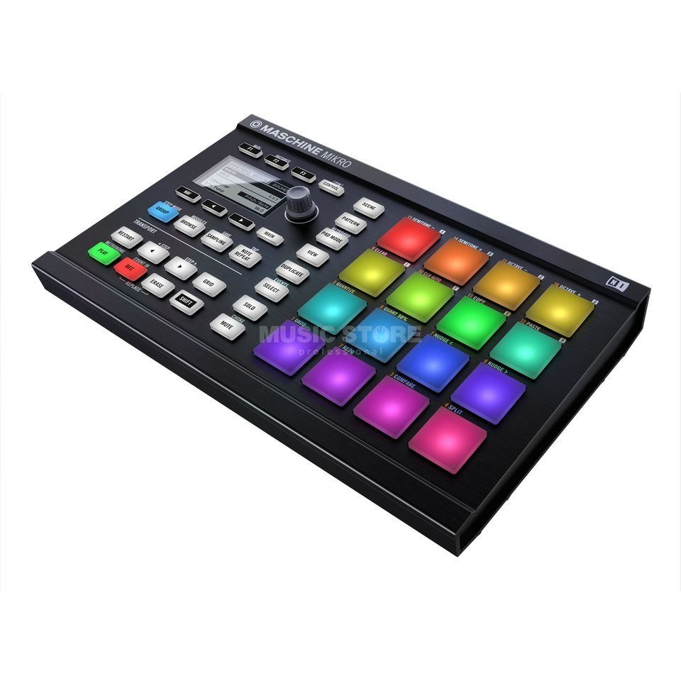 Native Instruments Maschine Mikro MKII Software Instrument Controller, Black Produktbillede