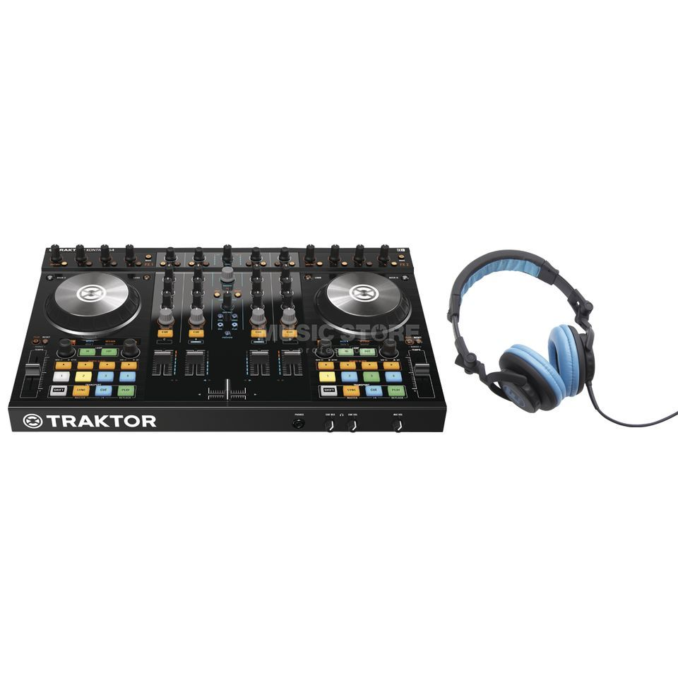 Native Instruments S4 MKII + hD-1000 blue - Set Produktbild