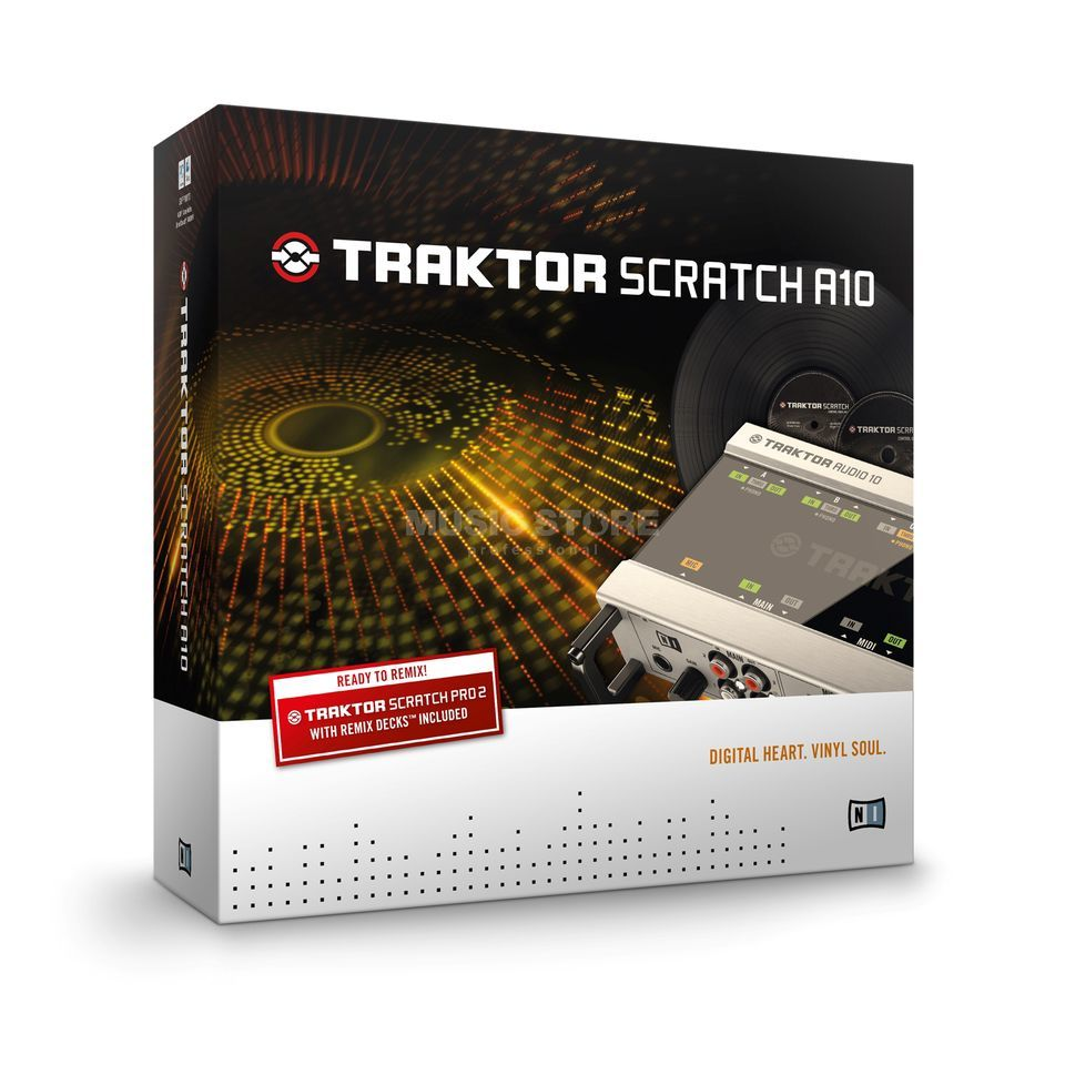 Native Instruments TRAKTOR Scratch A10 Digital-Vinyl-System Imagem do produto