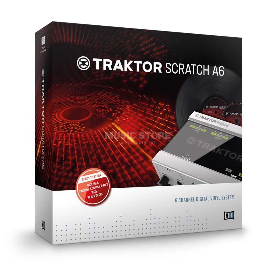 Native Instruments Traktor Scratch A6 Digital-Vinyl-System Product Image