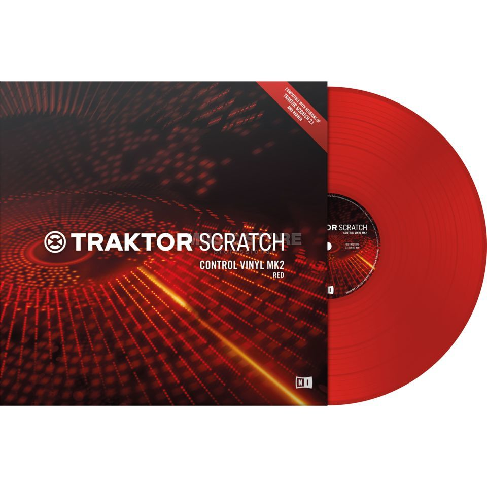 Native Instruments Traktor Scratch Timecode Vinyl MK2 Red Produktbillede