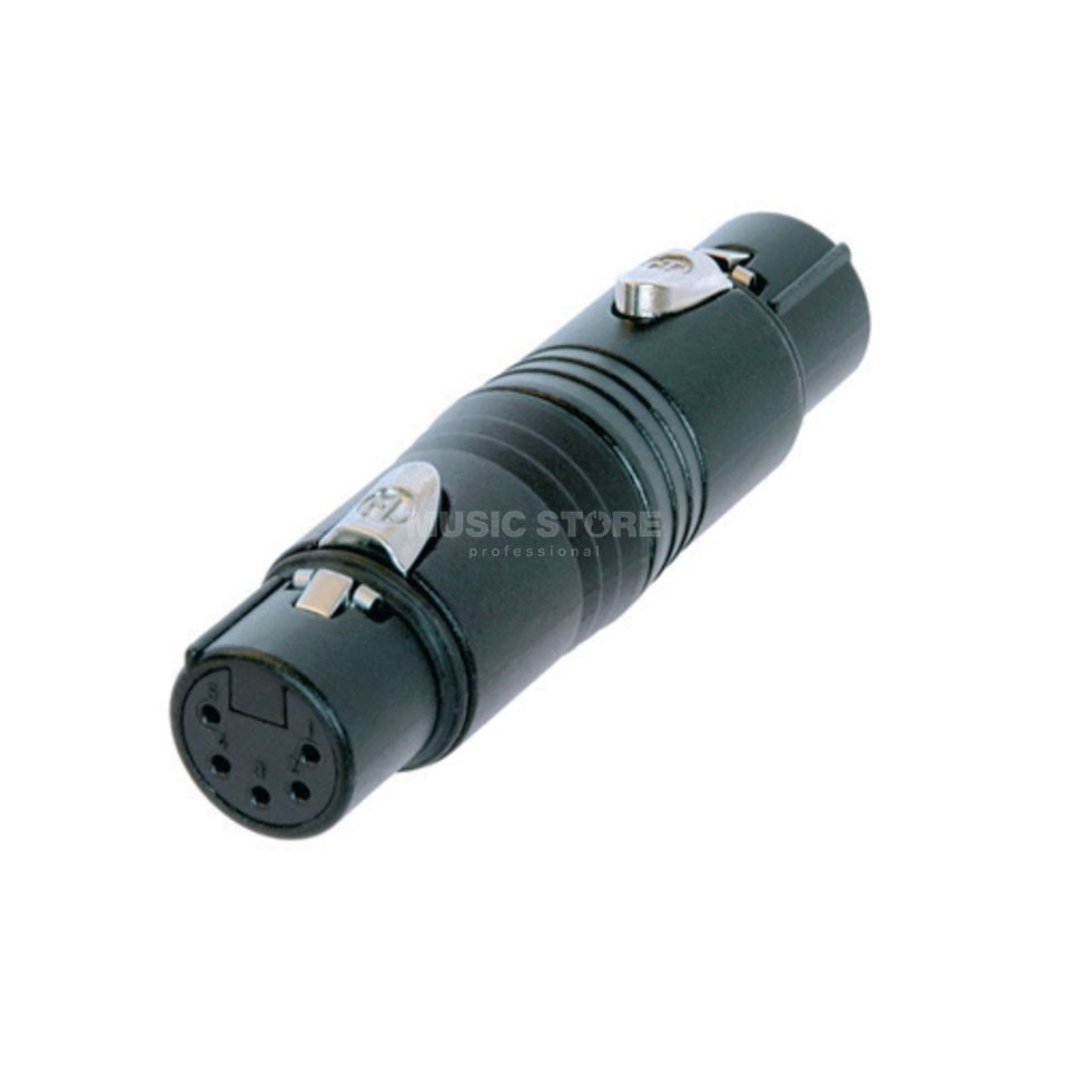 Neutrik NA5FF-B Adapter 5-pole XLR female,Black Produktbillede