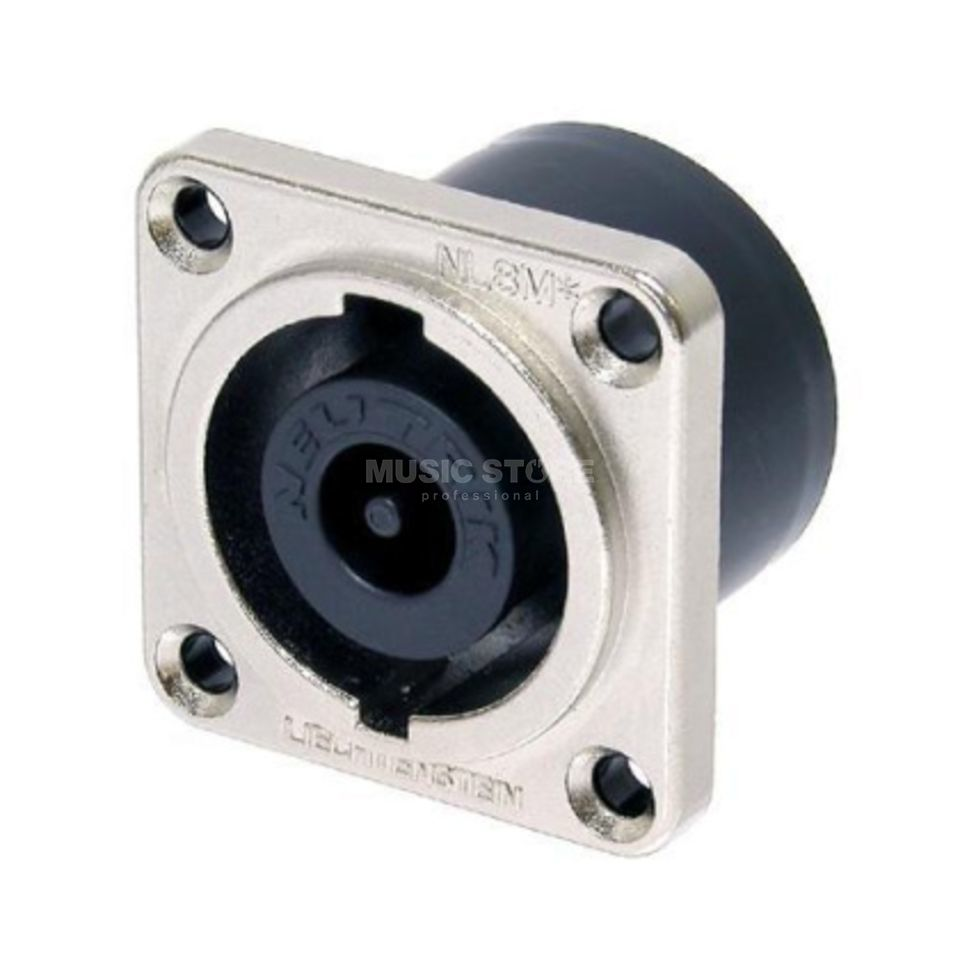 Neutrik NL8MD-V-1 Speakon Chassis Connector 8-pole, G-Size, Nickel Product Image