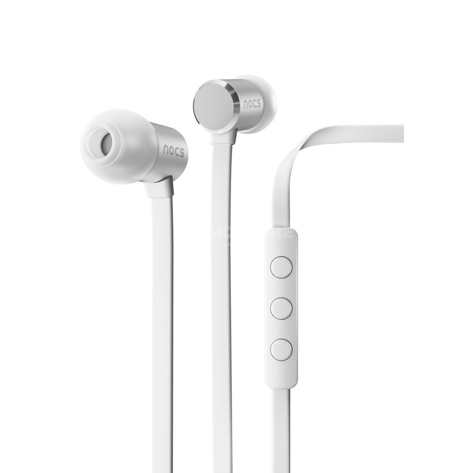 Nocs NS500 w{Mic (iOS) white  in Ear Monitors, white-silver Изображение товара