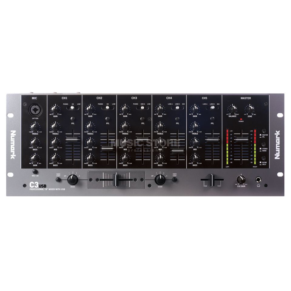 Numark C3USB DJ Rack Mixer with USB I/O Produktbillede