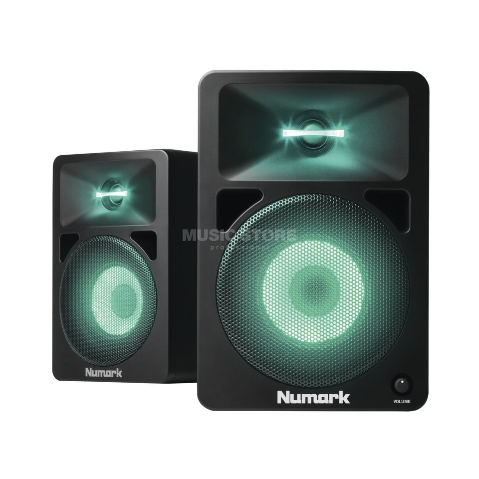 Numark N-WAVE 580L(Paar) Illuminated DJ-Monitors Produktbild