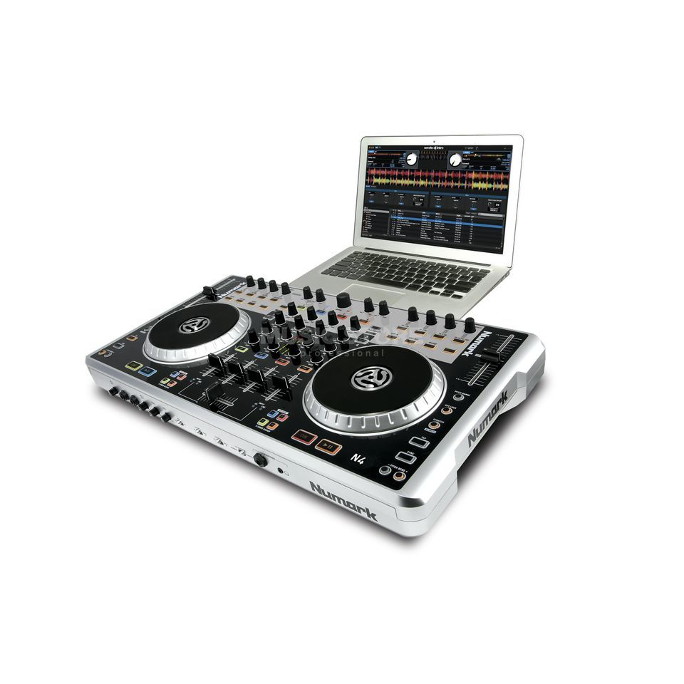 Numark N4 4-Deck Controller met mixer en Audio Interface Productafbeelding
