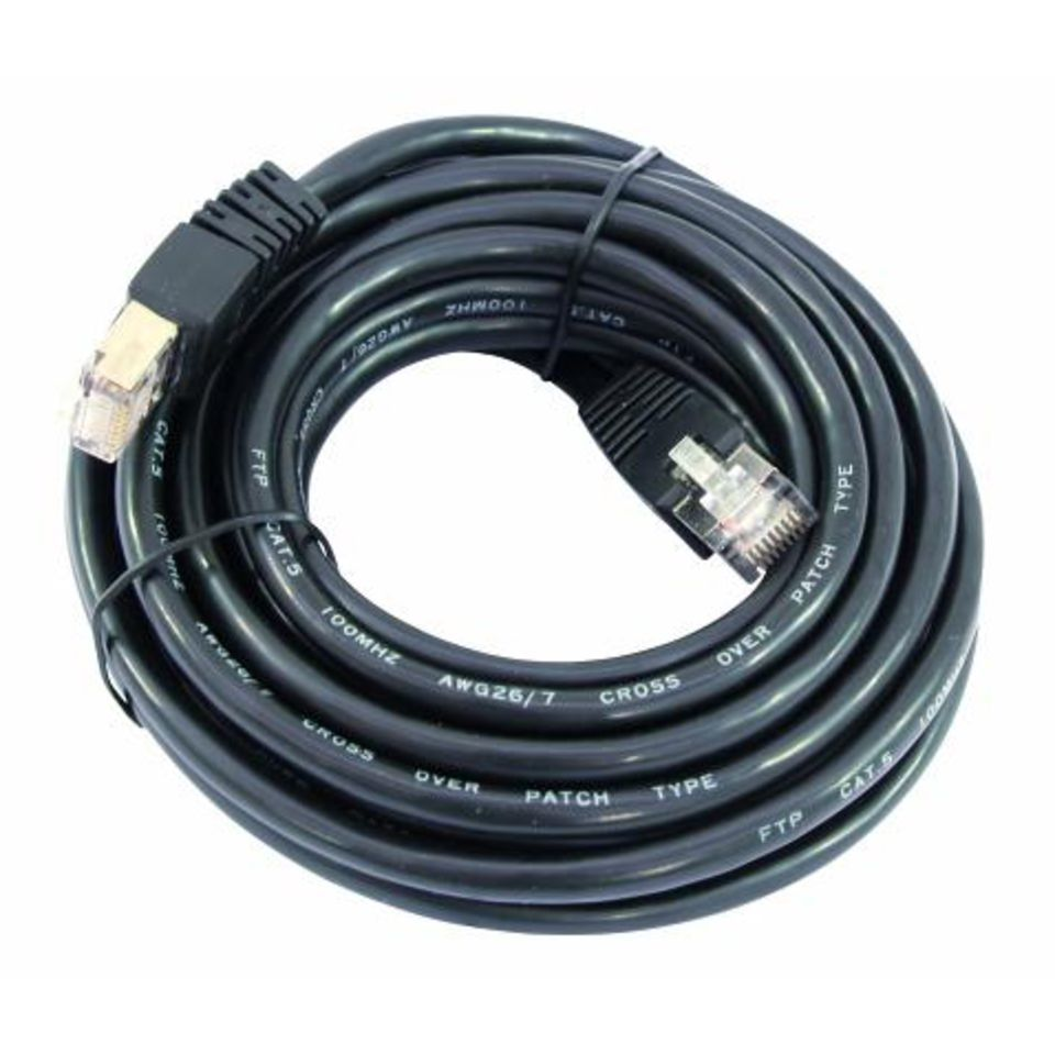 Omnitronic Cable WC-50 CAT-5E Cable 5m Black Produktbillede
