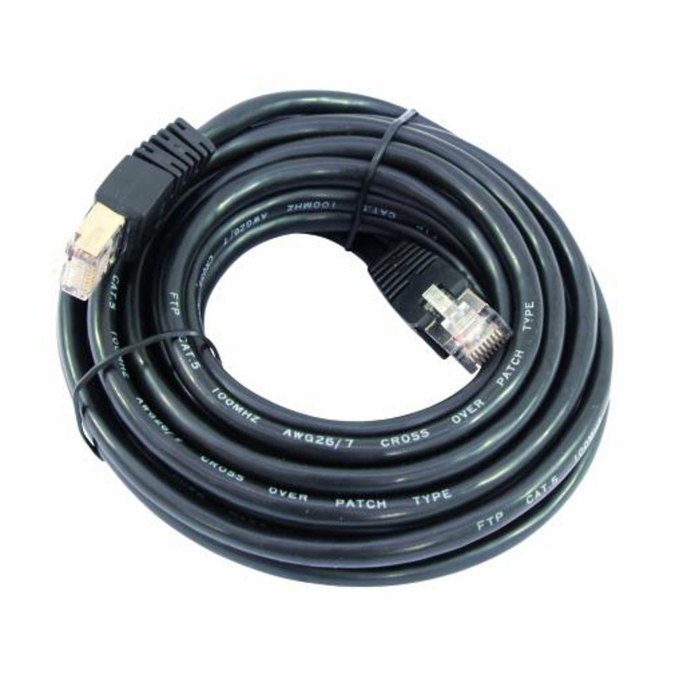 omnitronic kabel wc 10 cat 5e kabel 1m schwarz. Black Bedroom Furniture Sets. Home Design Ideas