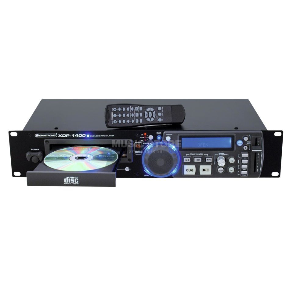 Omnitronic XDP-1400 Single-CD-/USB-/SD-Player Produktbild
