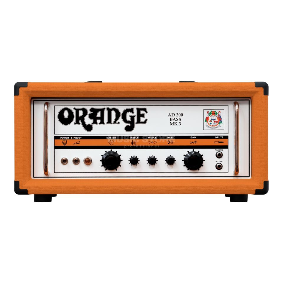 Orange AD 200 Custom Shop Bass Head tête 200 watts tout lampe Image du produit