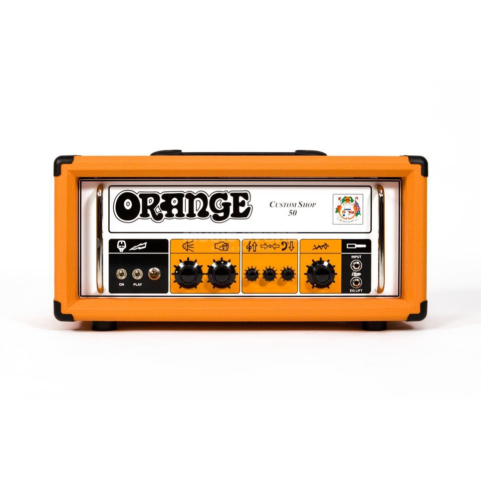 Orange CS50H Custom Shop Head Produktbild