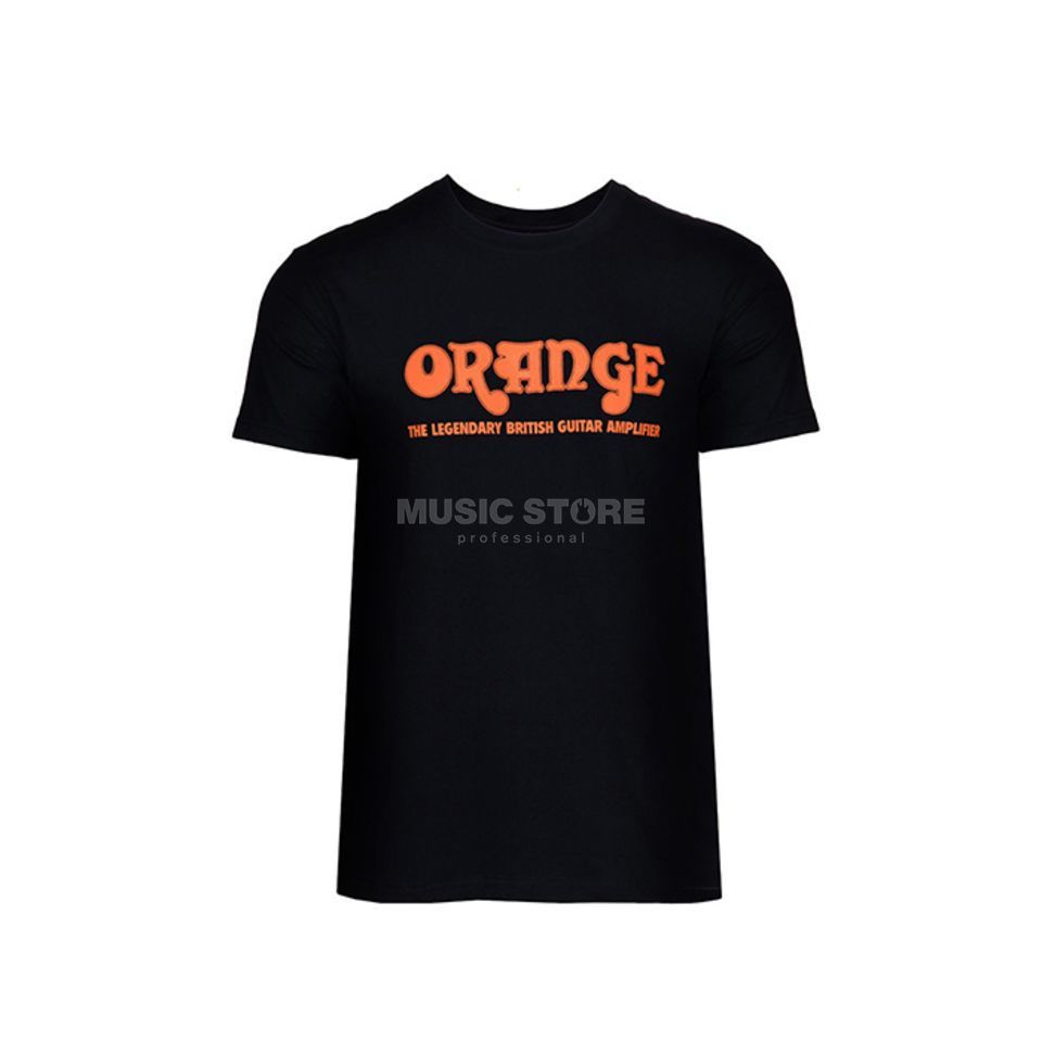 Orange T-Shirt schwarz Gr. M mit Orange Logo Produktbild