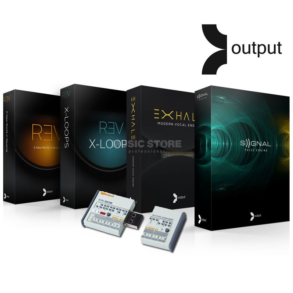 output EXHALE+REV+SIGNAL+XLOOPS Bundle mit USB Stick (boxed) Produktbillede