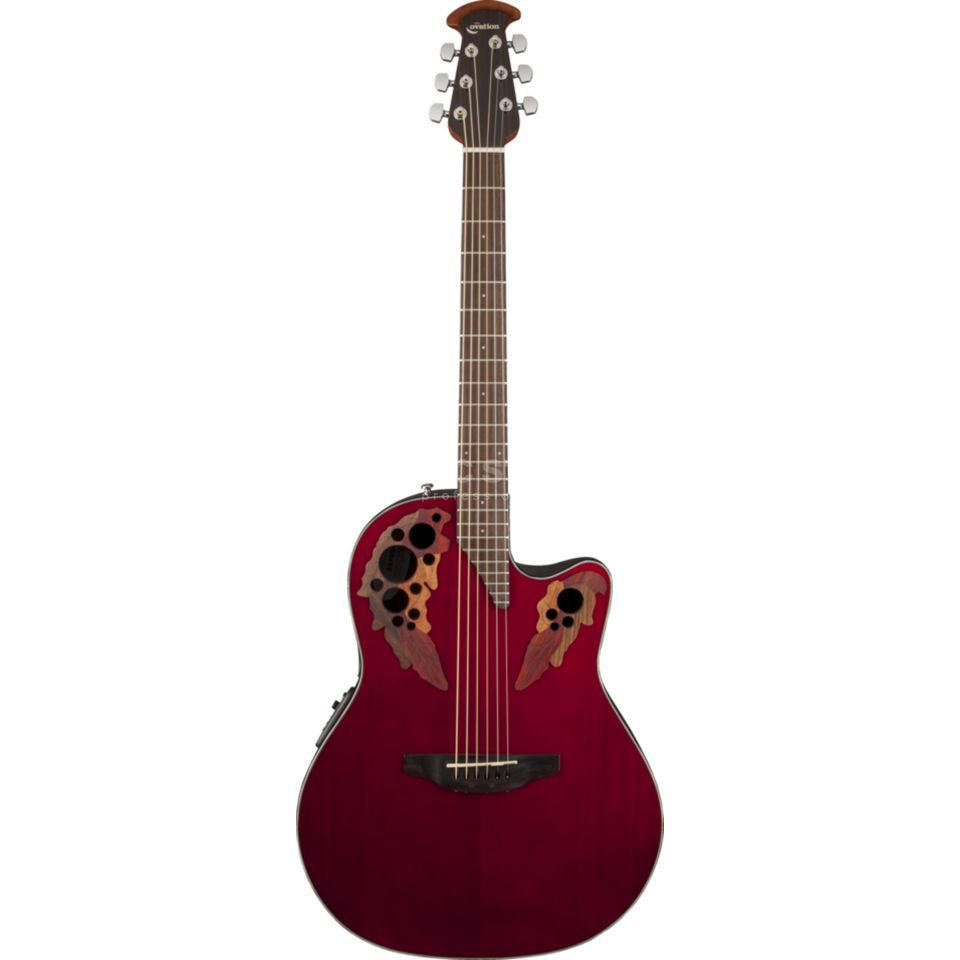 Ovation CE44-RR Celebrity Elite Ruby Red Produktbild