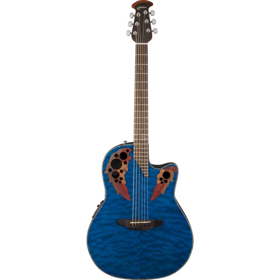 Ovation CE44P-8TQ Celebrity Elite Trans Blue Quilt Maple Produktbillede