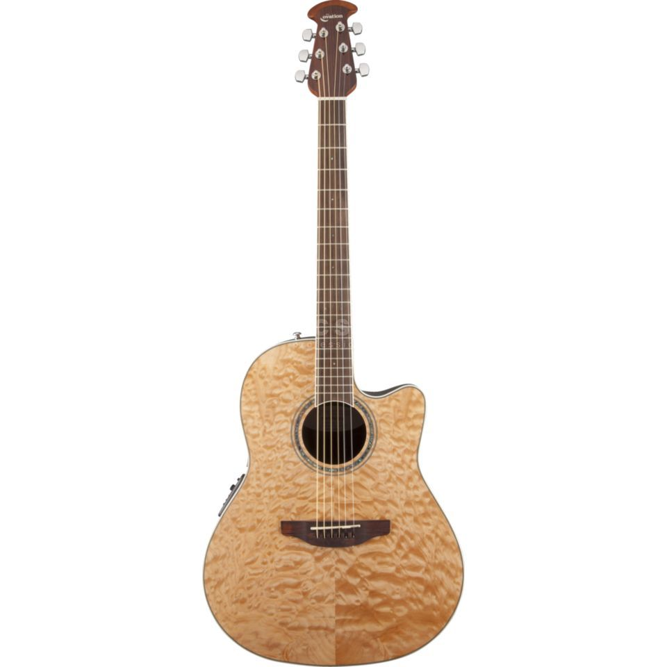Ovation CS24P-4Q Celebrity Std. Plus Natural Quilt Produktbild
