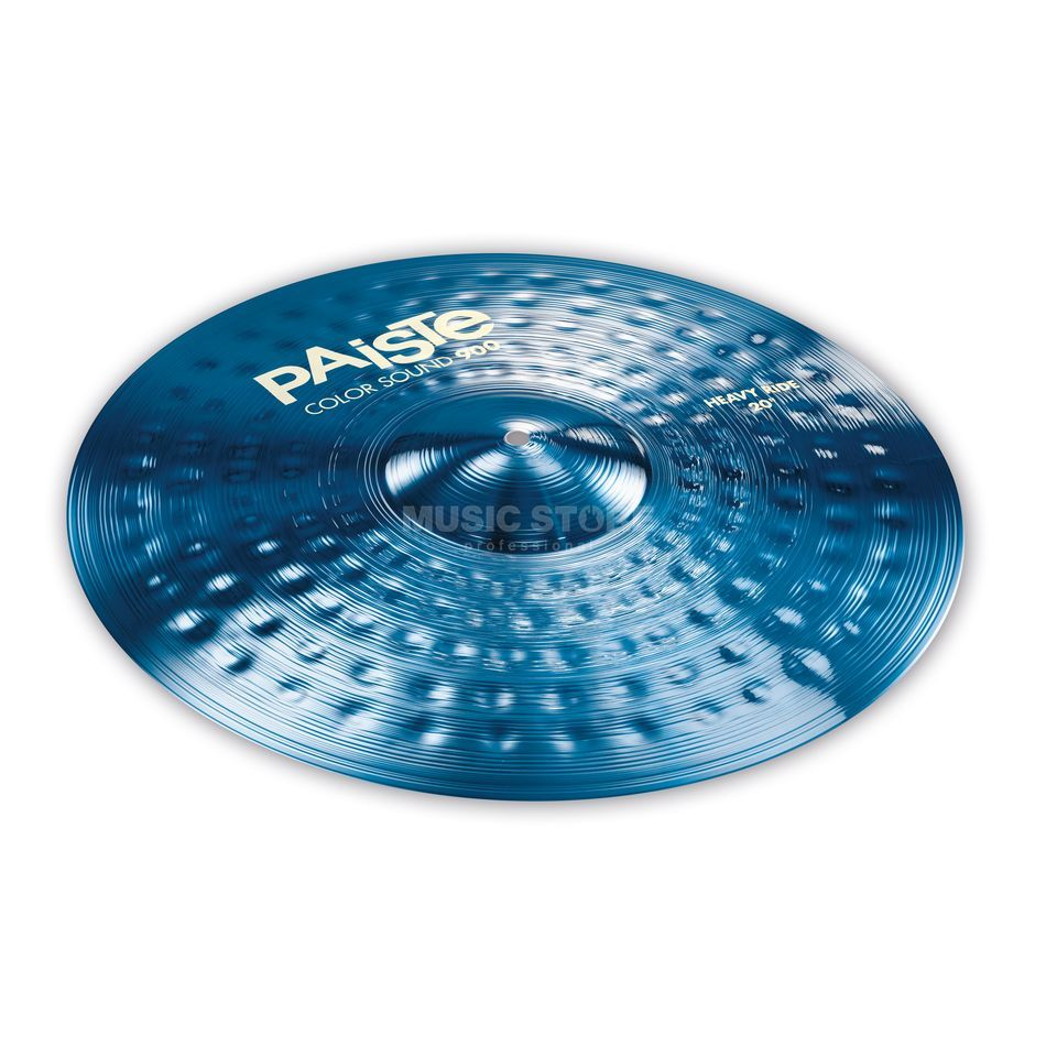 "Paiste CS 900 Heavy Ride 20"" Color Sound Blue Product Image"